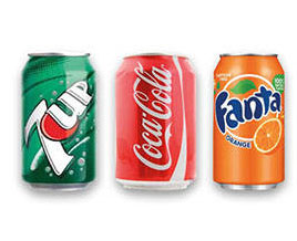 Coca Cola / Fanta / 7up